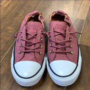 Mauve Pink Maroon Converse Sneaker Tennis Shoes